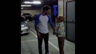 Внук и бабушка.   :-))