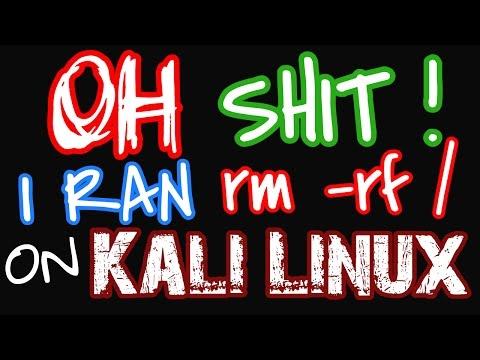OH SHIT!! I RAN rm -rf on ROOT Filesystem on Kali Linux | rm -rf /