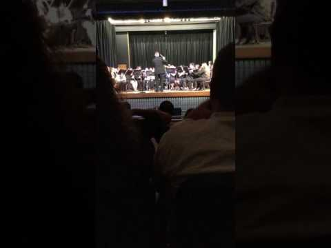 Quartz Hill High School symphonic band performing Inchon 5/5/17