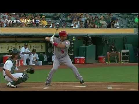 Albert Pujols Hitting Slow Motion Home Run Baseball Swing Batting Tips MLB Angels