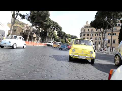 FIAT 500 Vintage cars rental in Rome - convoy tours, free rental, slow journeys