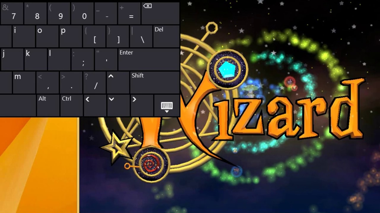 playing wizard101 on a windows 8 1 tablet