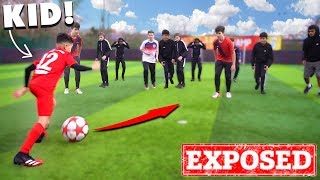 I Challenged a KID Footballer To a PRO Football Competition (11 YEAR OLD KID RONALDO)