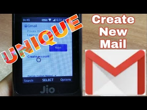 How to open email account on jio phone