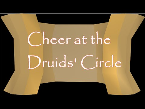 easy clue scroll cheer at the druids circle 2007 osrs youtube