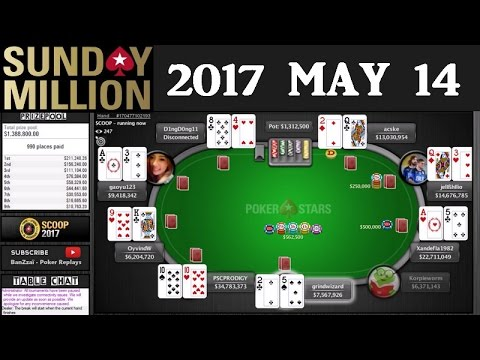 [SCOOP 2017] Event 31-M Sunday Million 2017 May 14 (Cards Up) - Final Table Rreplay - Pokerstars