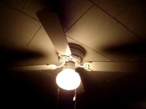 Walmart 42 Quot Hugger Ceiling Fan Youtube