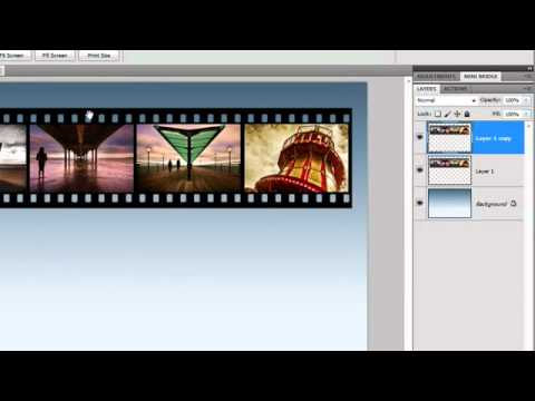 Film Strip Effect In Photoshop Cs5 Gavin Hoey Youtube