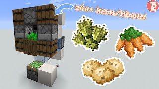 Minecraft 1.14 - 1.16 - MICRO WHEAT/CARROT/POTATO Farm Tutorial (266 Items/Minute)