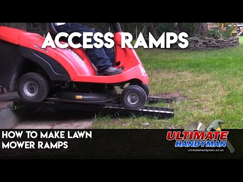 How To Make Lawn Mower Ramps