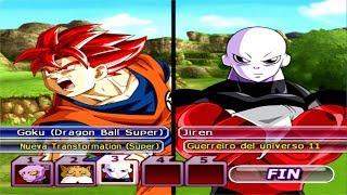 Dragon Ball Z Budokai Tenkaichi 3 - Goku SSGSS Red Vs Jiren,Toppo,Dyspo (Guerreiros del universo 11)