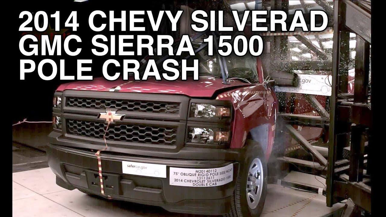 2014 chevy silverado gmc sierra 1500 double cab pole crash test crashnet1