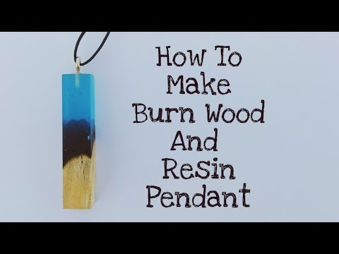 How to make DIY Burn Wood And Epoxy Resin pendant necklace from epoxy resin and burn Wood |Resin art