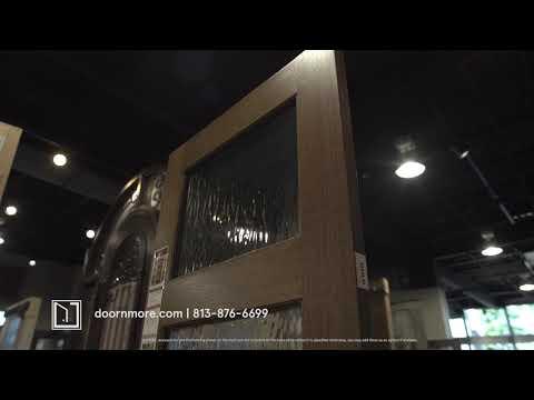 3 Lite TDL DoorCraft Mahogany Door W/Textured Glass