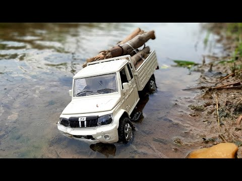 Unboxing Review Testing Of Diecast Model Of Mini Mahindra Bolero Pickup | Off-Roading | Auto Legends