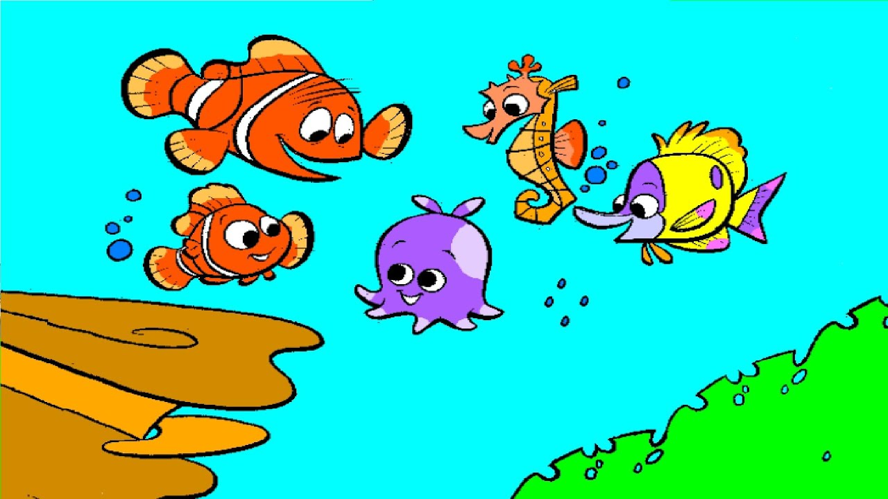 Finding Nemo Coloring Pages Nemo Coloring Book - YouTube