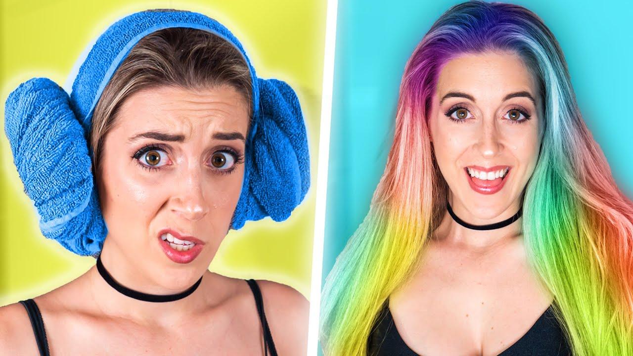 Ces tutos Hair Hacks sont les PIRES d'internet! (c'est horrible) | DENYZEE