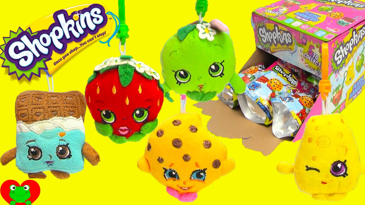 Shopkins Plush Hangers In Blind Bags Full Set With Kooky Cookie And More