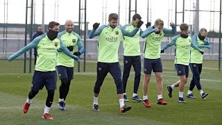 Recovery training session ahead of Copa del Rey