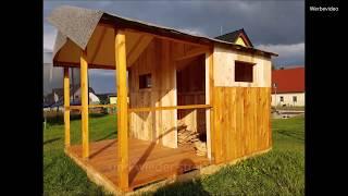 DIY Spielhaus für Kinder aus Paletten selbst bauen - Anleitung, Bauanleitung