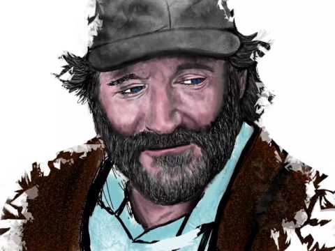 Robin Williams Drawing (Time-Lapse)