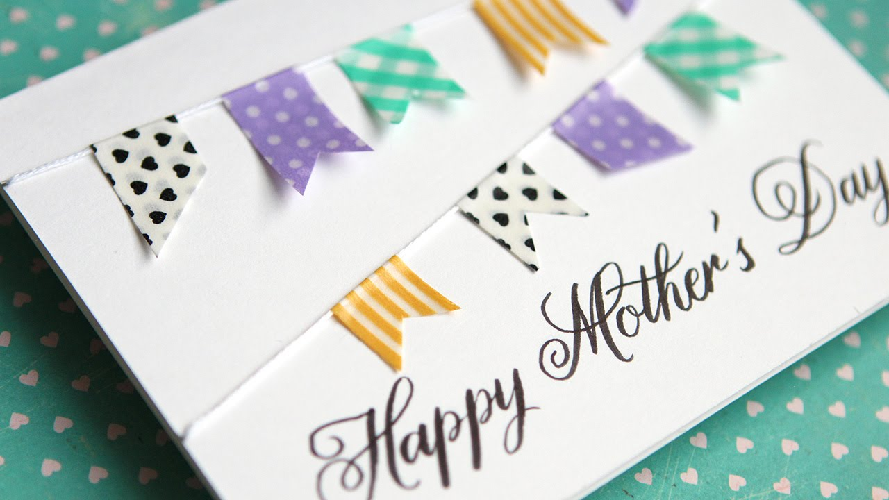 Simple diy mothers day card no stamping youtube m4hsunfo