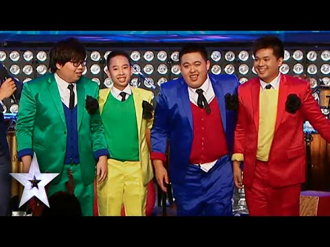 Colorful Young Boys Deliver Crazy Musical With New Member | Asia's Got Talent Semis 2