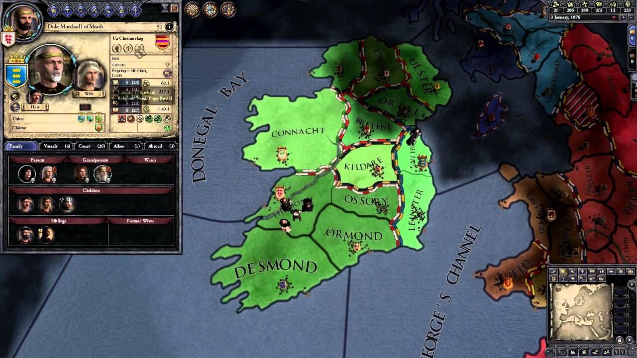 Crusader Kings 2 Extended Tutorial, Part 5: Managing succession and the  perils of alcohol