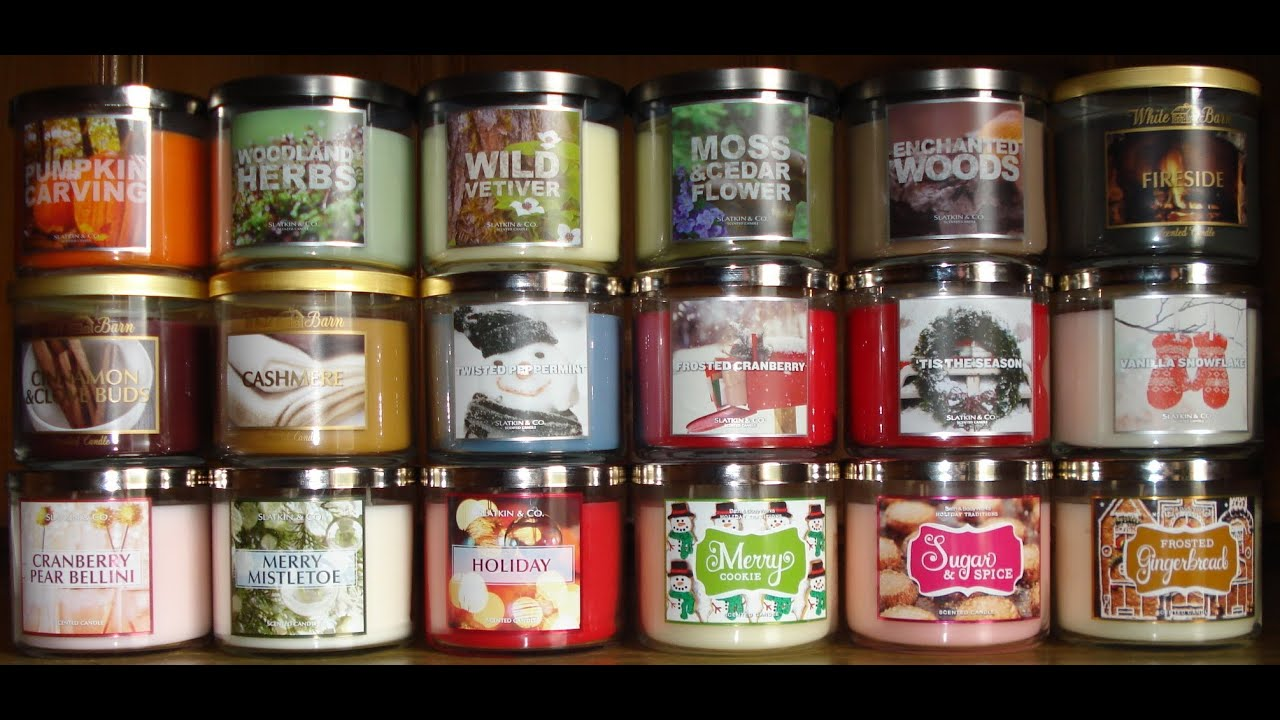 Bath and body works holiday scents - Bath And Body Works Slatkin Candle Haul Review Fall Winter Holiday Test Scents Part 2 9 18 2012 Youtube