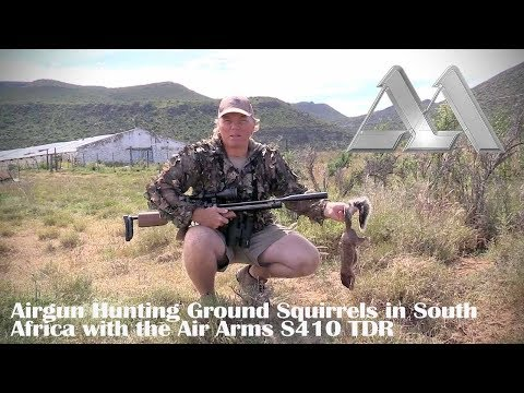 Airgun Hunting: Ground Squirrels in South Africa with the Air Arms S410 TDR