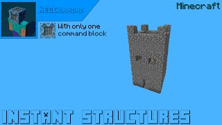 Minecraft - Instant structures WITH ONLY 1 COMMAND BLOCK [★★★★✩]