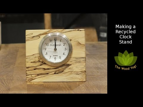 Making a Stand for a Recycled Clock - DIY Woodworking Project