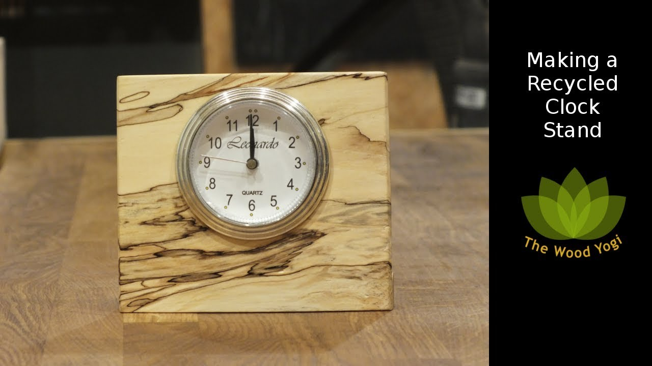 Making A Stand For A Recycled Clock Diy Woodworking Project