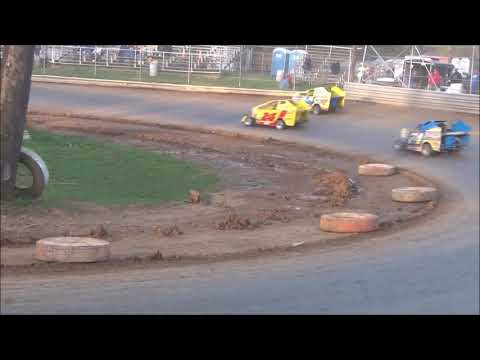 600 Sportsman Modified Heat Race at Shellhammers Speedway 4/27/2019
