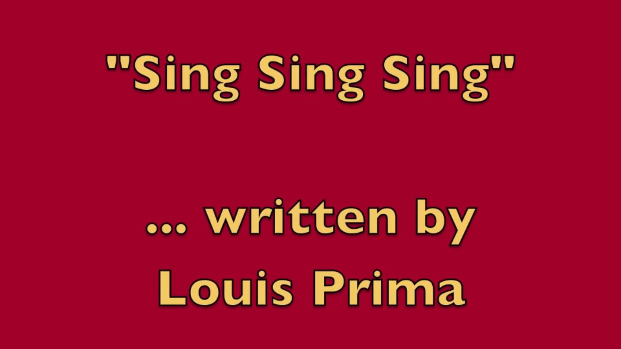 Sing Sing Sing Lyrics