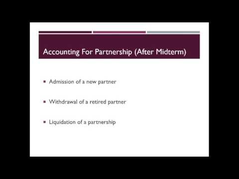 Partnership - Admission
