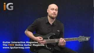 Steve Vai Style Performance With Guitarist Andy James - Free Guitar Lesson In Magazine