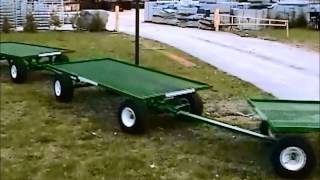 Wellmaster's 4' X 8' 4-wheel-steering Nursery Wagon