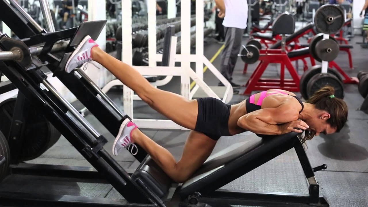 Kick Backs Using Leg Press Youtube