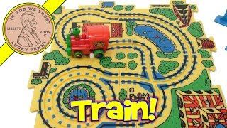 Wind-up Puzzle Vehicle Toy Train Set!