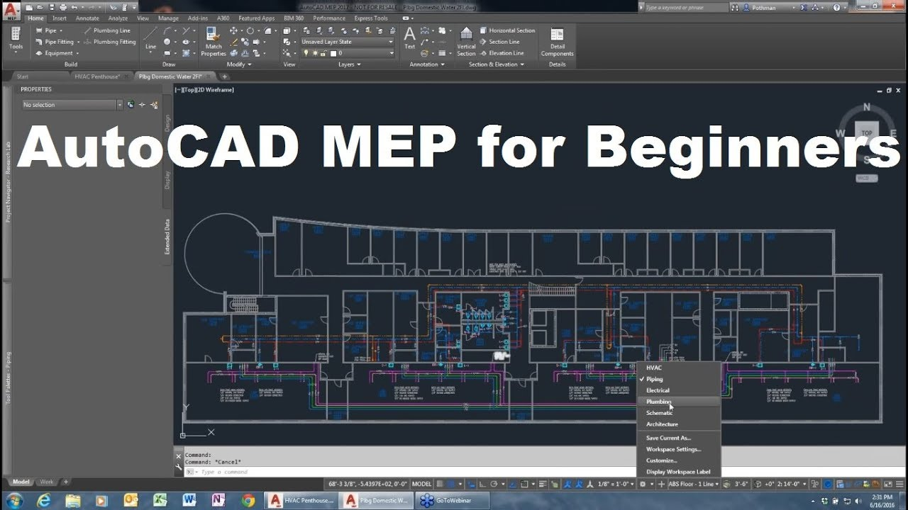 hight resolution of autocad mep tutorial for beginners