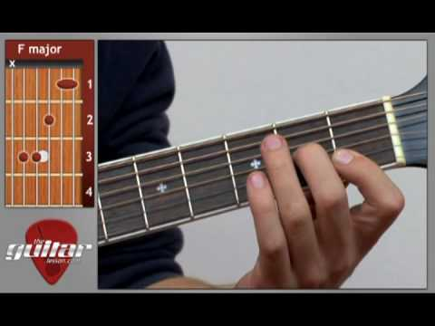 Colorful How To Play F Chord Guitar Vignette - Beginner Guitar Piano ...