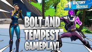 Nouveau gameplay de peau de TEMPEST et BOLT dans Fortnite Battle Royale.