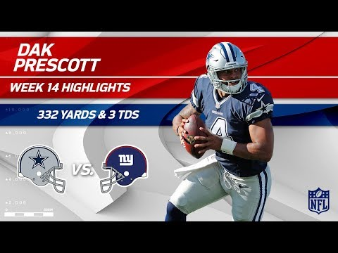 Dak Prescott Puts Up 3 TDs & 332 Yards vs. NY! | Cowboys vs. Giants | Wk 14 Player Highlights