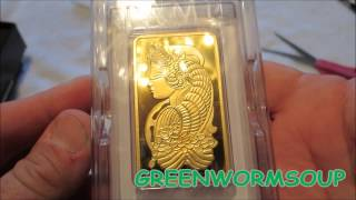 5 OUNCE PAMP SUISSE GOLD BAR - APMEX UNBOXING