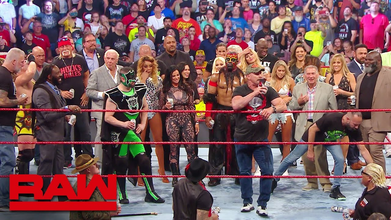 """Stone Cold"", Hulk Hogan and Ric Flair lead A Toast to Monday Night Raw: Raw Reunion, July 22, 2019"