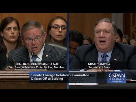 Full exchange between Secretary Pompeo & Senator Menendez (C-SPAN)