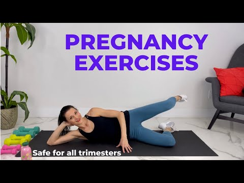 Pregnancy Exercises First Trimester (safe for all trimesters)