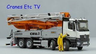 NZG CIFA K45H Truck Mounted Concrete Pump by Cranes Etc TV