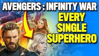 Every Superhero in AVENGERS: INFINITY WAR